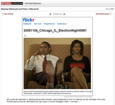 Darf Spiegel-Online Fotos nutzen, die von Barack Obama auf Flickr unter einer Creative Commons Lizenz veröffentlicht wurden?