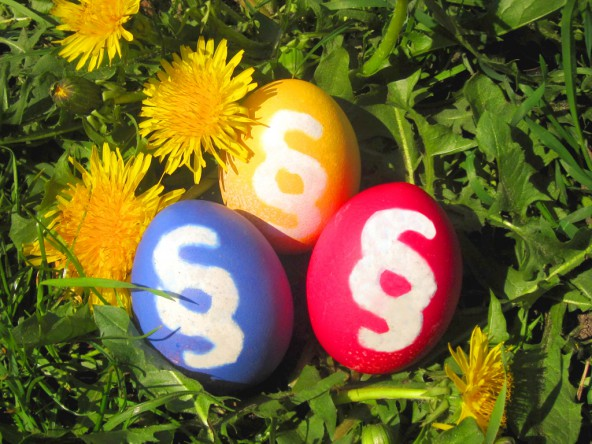 Frohe Ostern! Happy Easter! Eastereggs & Law