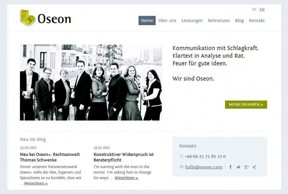 In eigener Sache: Partnerschaft im Netzwerk der Kommunikationsagentur Oseon