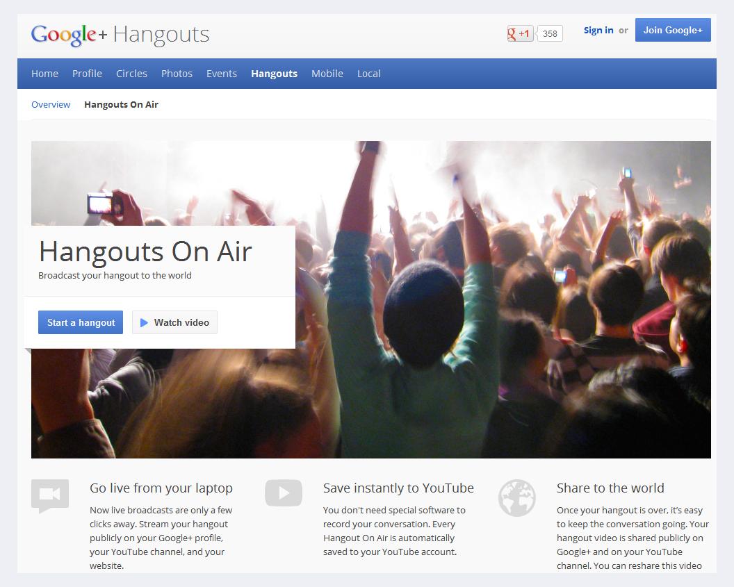 Googles Hangout on Air – Drohen Abmahnungen bei fehlender Rundfunklizenz?