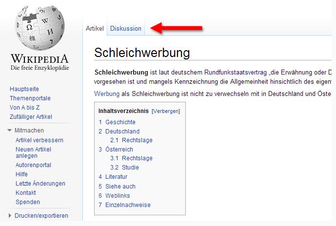 Wikipediabeiträge von Unternehmen stellen Schleichwerbung dar