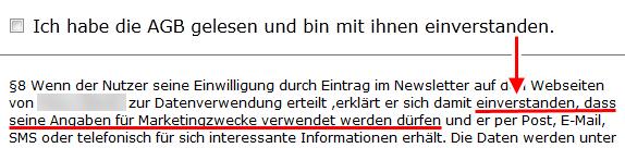 Birgt Ihr E-Mail-Newsletter ein Abmahnrisiko? - Einwilligung in den AGB