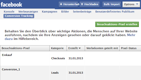 """Rechtliche Hinweise zum Einsatz des """"Besucheraktions-Pixels"""" von Facebook"""