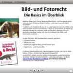 Präsentationsfolien: Bild- und Fotorecht - die Basics im Überblick