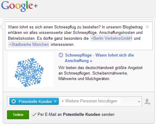 Google+ - Spam oder zulässige Ansprache in sozialen Netzwerken