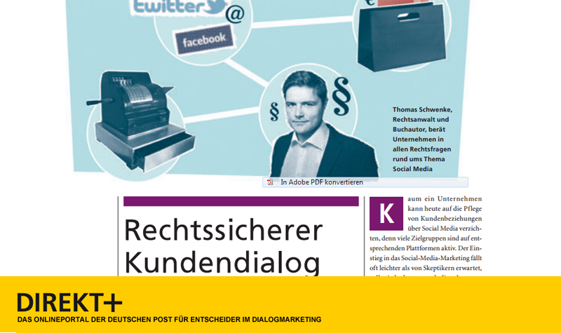 Interview zu Rechtsfragen des Customer Relationship Management in Direkt+