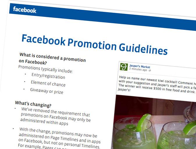 Beitrag bei Allfacebook zu neuen Richtlinien für Promotions und rechtlichen Stolperfallen bei Gewinnspielen