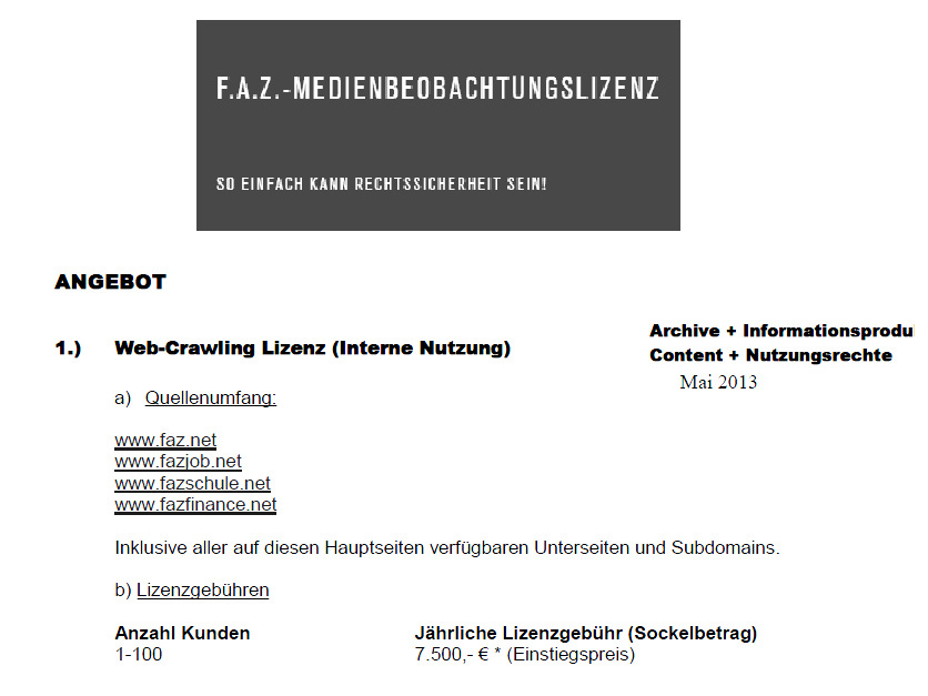 Social Media Monitoring & Recht – Teil 10 – Dank Leistungsschutzrecht: Monitoring als Cashcow für Presseverlage?