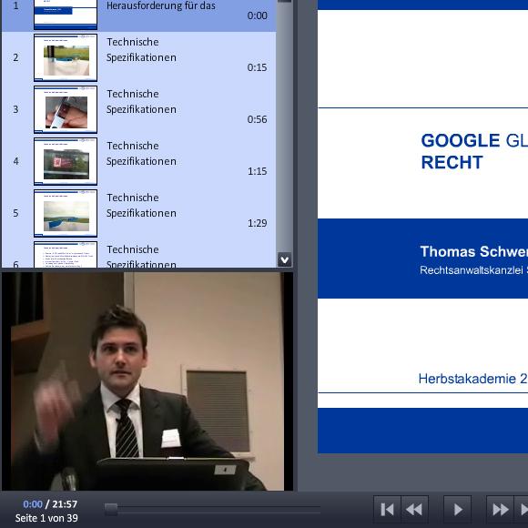 """""""Google Glass – Eine Herausforderung für das Recht"""" – Video & Präsentation von der Herbstakademie 2013"""