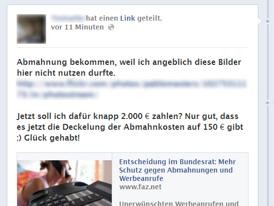 """Bilderabmahnungen kosten nur 150 Euro? – Gefährlicher Irrtum beim """"Anti-Abzock-Gesetz"""""""