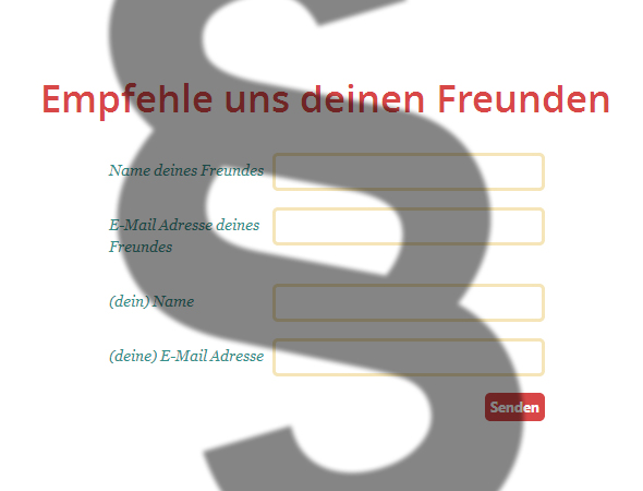 Empfehlungsemail - Tell-a-Friend