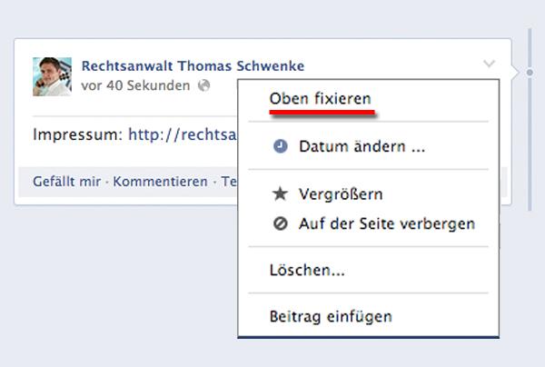 Ist das Impressum Ihrer Facebookseite nach Designupdate sicher?