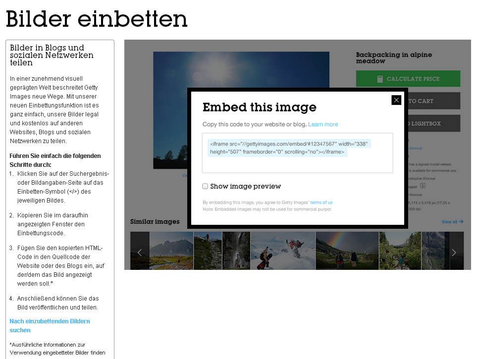 FAQ zur Einbettung der Bilder von Getty Images – Urheberrechtlich top, Datenschutzrechtlich flop