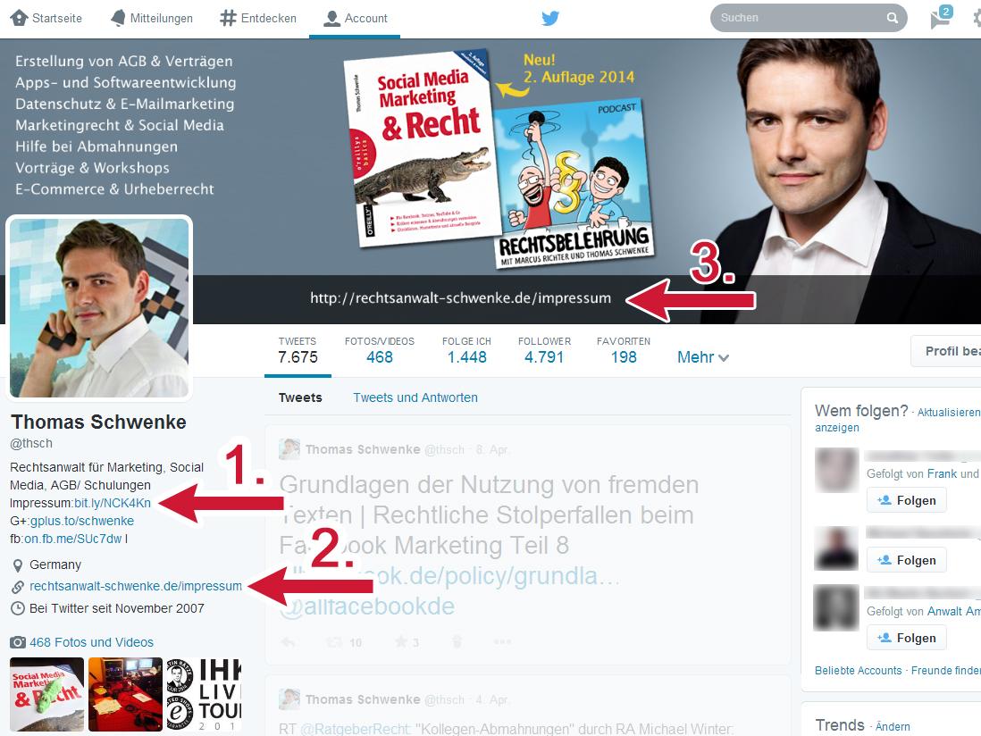 Neue Twitterprofile: Keine Entschuldigung mehr für ein fehlendes Impressum