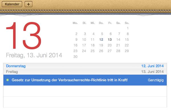 Änderungen Verbraucherrecht ab Freitag den 13.06.2014 – Antworten auf wichtigste Fragen
