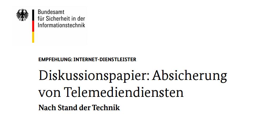 """BSI - Technischen Richtlinien """"TR-02102 Kryptographische Verfahren: Empfehlungen und Schlüssellängen"""