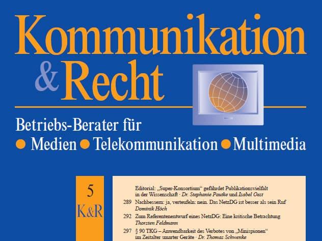 Digitale (Spionage)Assistenten – Kriterien für ein Verbot smarter Geräte nach § 90 TKG