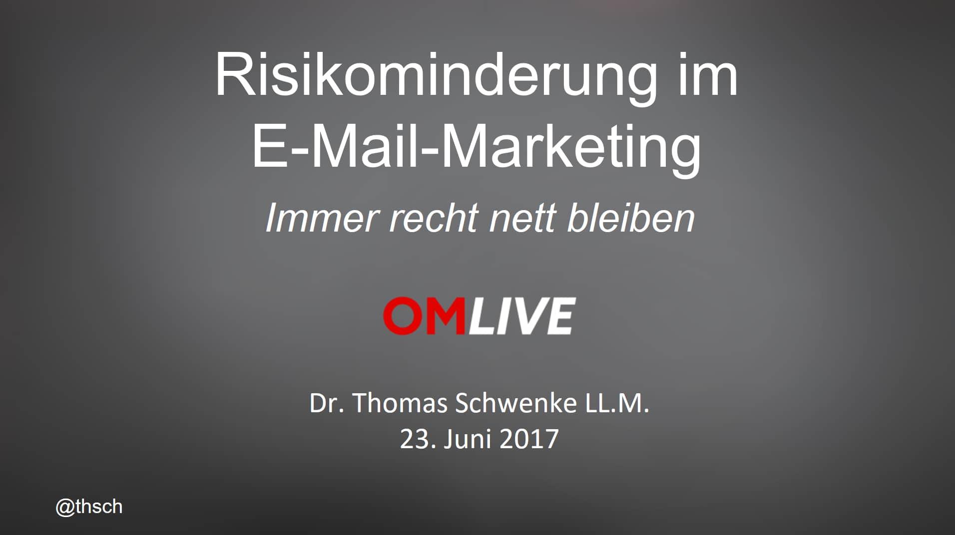 Risikominderung im E-Mail-Marketing – Sind Ihre Einwilligungen rechtssicher?