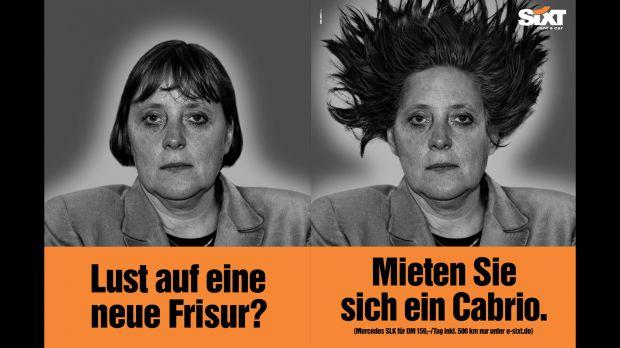 Sixt-Werbung mit Frau Dr. Merkel