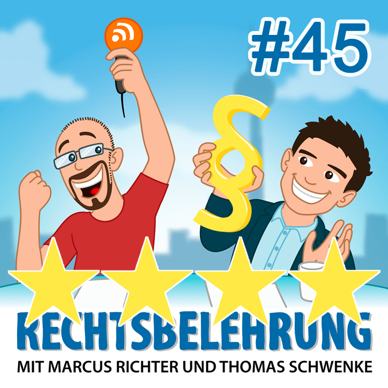 Podcasthinweis: Bewertungen im Internet – Rechtsbelehrung Folge 45