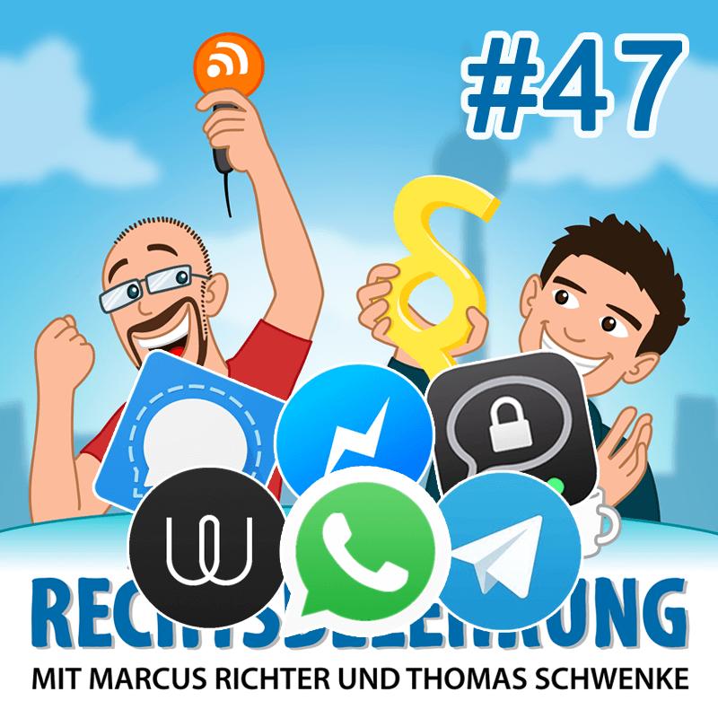 Podcasthinweis: WhatsApp, Messenger und der Abmahnungen – Rechtsbelehrung Folge 47