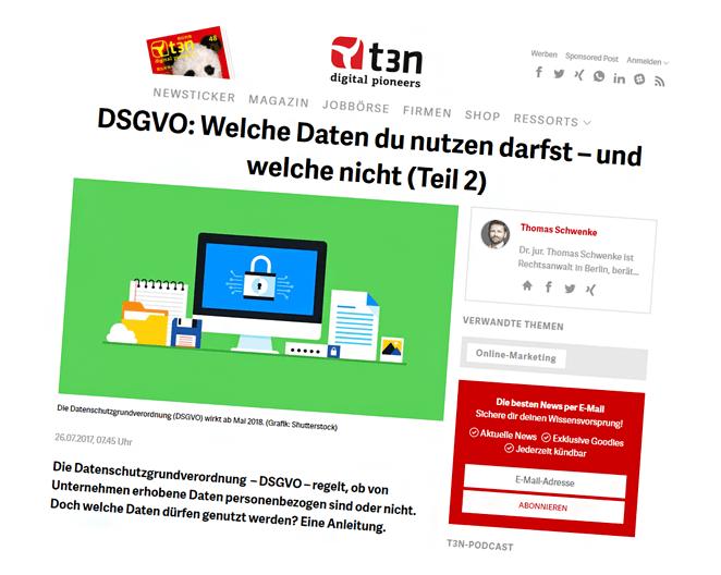 Beitragshinweis: Erlaubnisse und Einwilligungen in der DSGVO – Wann ist die Datenverarbeitung erlaubt?