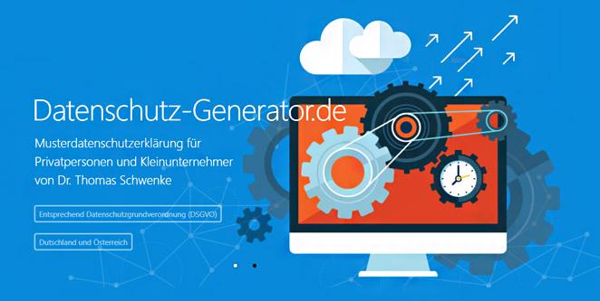 DSGVO: Datenschutz-Generator.de – kostenlos für Privatpersonen und Kleinunternehmer, günstige Lizenz für Unternehmen