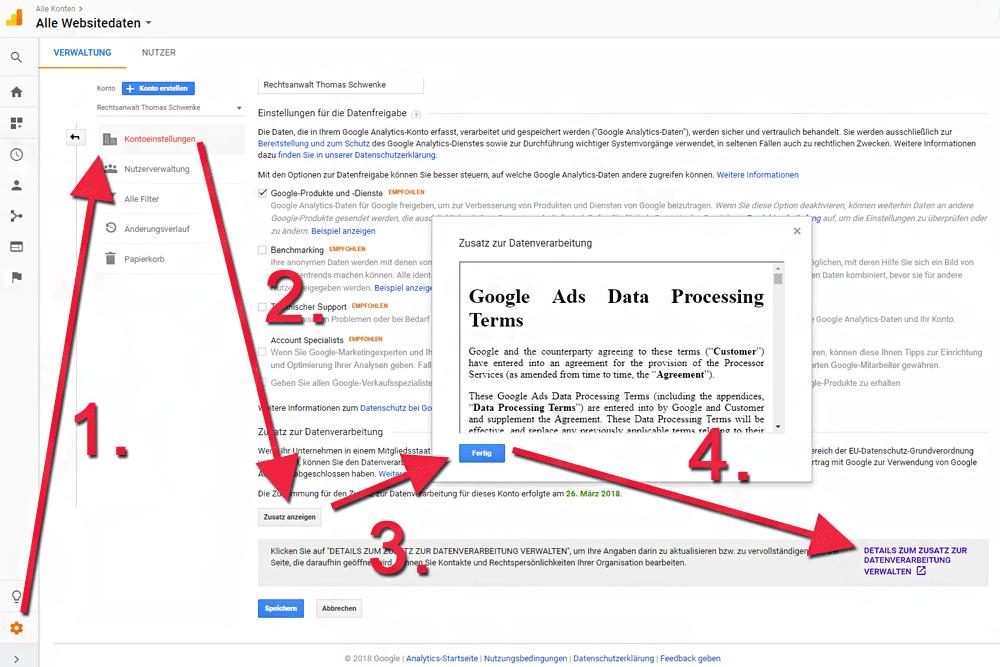 Google Analytics Dsgvo Anleitung Für Möglichst Rechtssichere