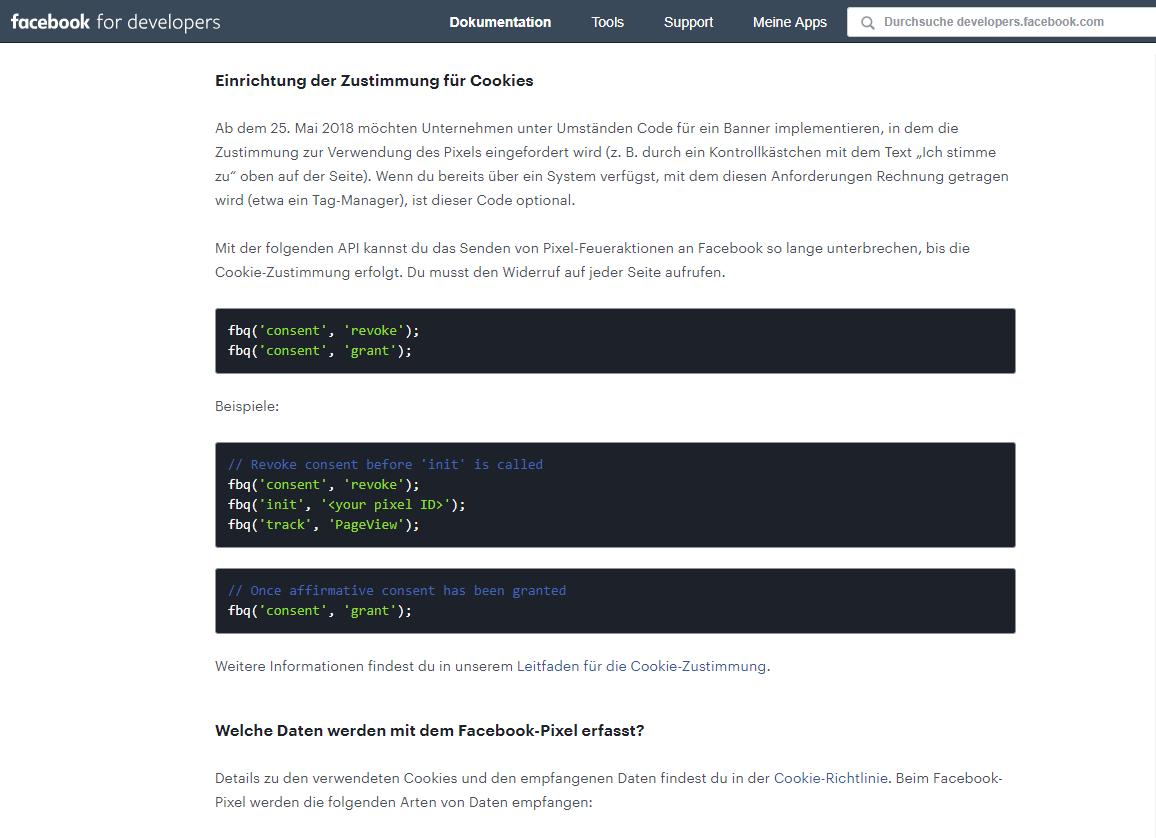 Daten-Webseis-Beispiele