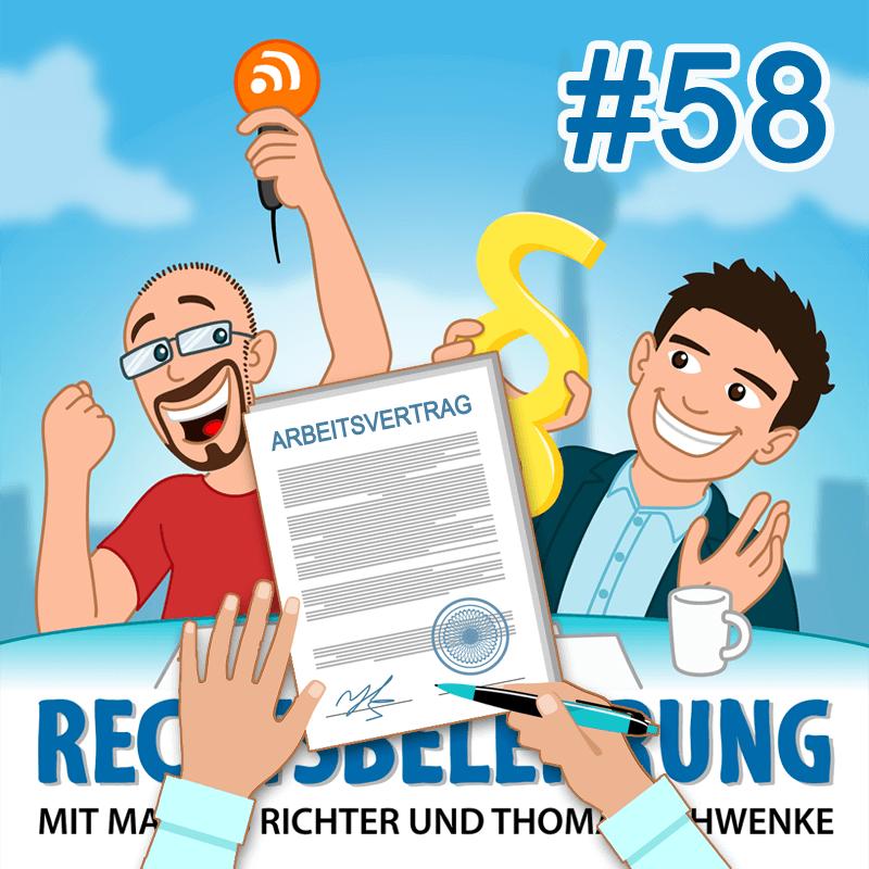 Podcasthinweis: Arbeitsrecht – Von der Bewerbung bis zur Kündigung – Rechtsbelehrung Folge 58