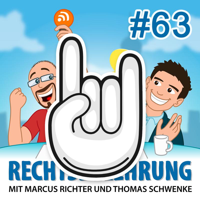 Podcasthinweis: Veranstaltungen & Events – Rechtsbelehrung Folge 63