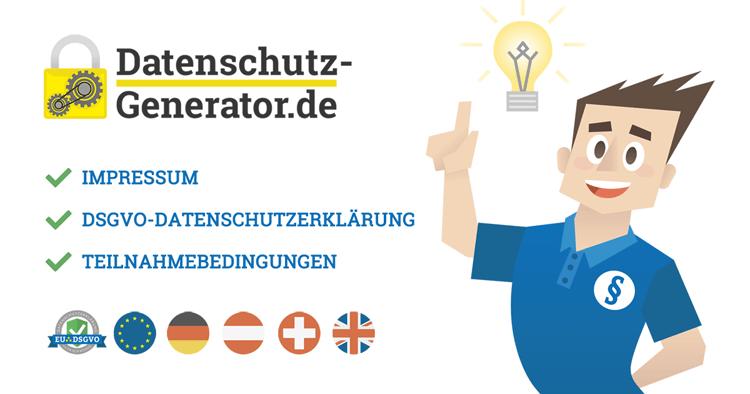 Neuer Datenschutz-Generator.de und 20%-Start-Rabatt