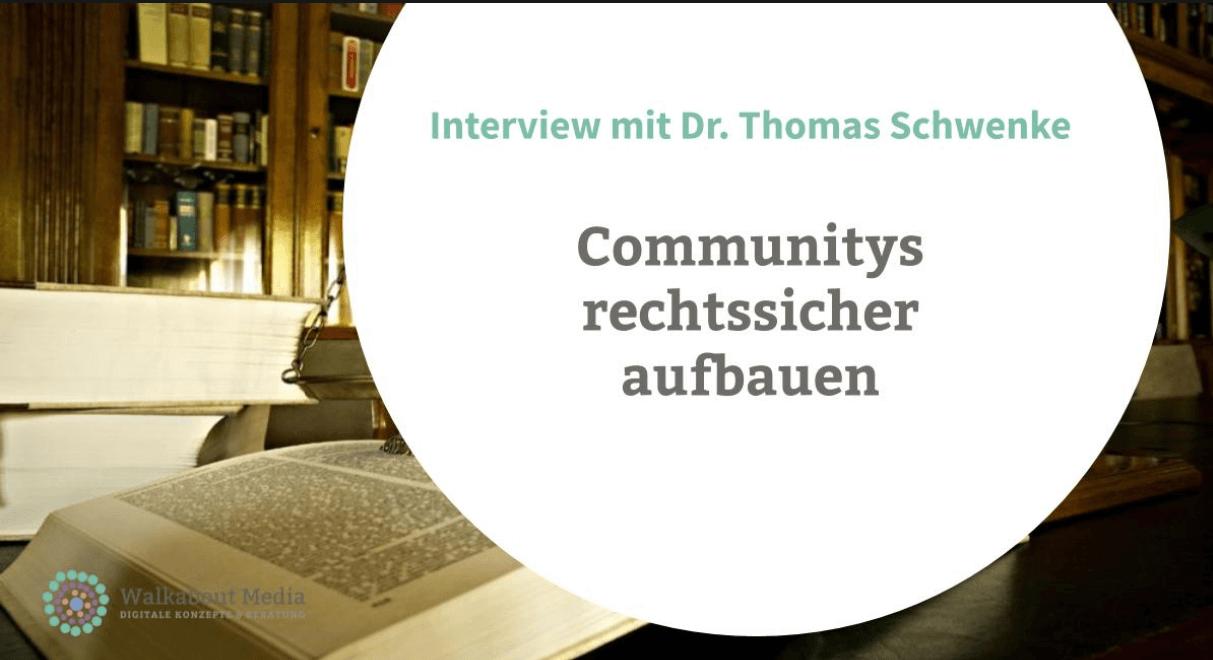 Pflichtwissen: Communitys rechtssicher aufbauen